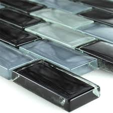 mosaic tiles glass brick black
