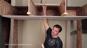 how to install weight bearing ceiling support reinforcing sheetrock to support a range hood you