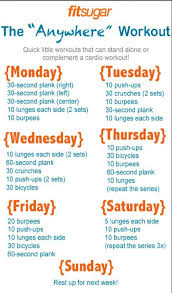 7 day workout plans