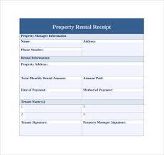 receipt paid rent paid receipt template business