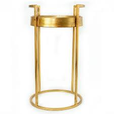 gold iron quatrefoil accent end table