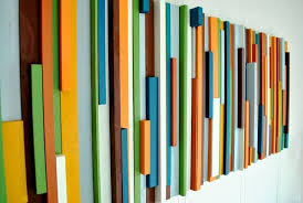 mid century modern decorating diy projects diy customized painted wood art curbly diy design community on mid century modern wall art diy with diy customized painted wood art pinterest diy design wood art