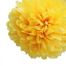Tissue Paper Pom Poms Flower Balls Yellow Tissue Paper Pom Poms Flowers Balls Decorations