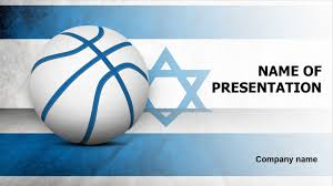 Israel Basketball Powerpoint Template & Background For Presentation Free