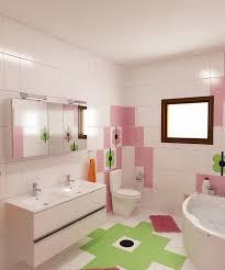 Bilder 3d Interieur Badezimmer Grün Rosa Ral Fete 13