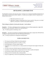 Resume Objective Enchanting Welcome To The University Writing Rhetoric Center Writing Sample