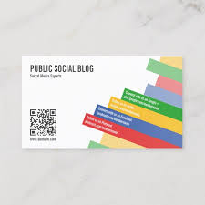 Modern Social Media Qr Code Business Card J32 Design