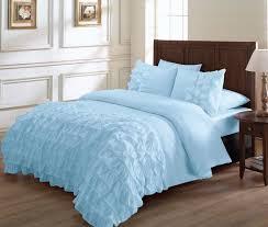 light blue ruffle bedding bedroom wonderful ruffle comforter for excellent bedding desi on shabby chic bedroom