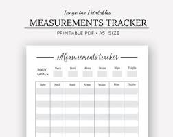 Printable Fitness Chart 7 Weight Loss Measurement Chart App 5 Body Template Body