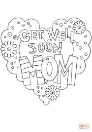Get Well Soon Mom Coloring Page Color Pages For Diywordpressme