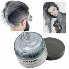 details about mofajang hair wax dye styling cream mud diy silver ash gray color 120g 4 23 oz