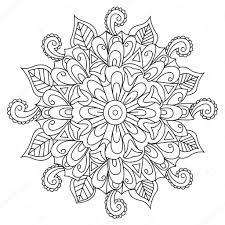 Fiore Di Mandala Da Colorare Vettoriale Per Adulti Vettoriali