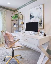 A productive day begins with a chic workspace. We can't get enough of //  HONEY WE'RE HOME's office, styled with our Jett Desk