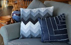 Couch pillow ideas Modern Denim Throw Pillow 23 Diy Throw Pillow Ideas To Spruce Up Your Living Room Sewingcom 23 Diy Throw Pillow Ideas To Spruce Up Your Living Room Sewing