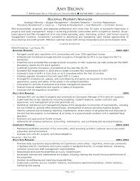 Property Management Cover Letter Property Manager Resume Cover