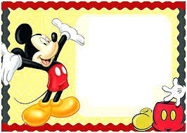 Mickey Mouse Baby Shower Invitations Free Mickey Mouse Invitation