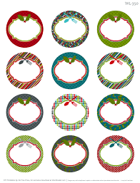Label Templates Free Fascinating Free Printable Round Labels Good For Christmas Labeling Round