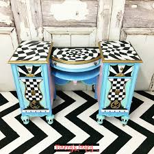 whimsy furniture. Blue Painted Vanity | Tracey\u0027s Fancy Whimsy Furniture O
