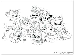 Paw Patrol Coloring Sheets Everest Page Pages Jadoxuvaletop