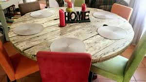 regained pallet round dining table