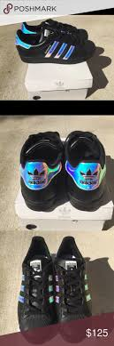 adidas shoes 2016 for girls tumblr. holographic adidas women size 7 ▫️adidas womens superstar ▫️custom made black leather shoes 2016 for girls tumblr
