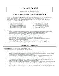 Hospitality Resume Sample Best Of Sample Resumes For Hospitality Industry Example Of Resume For