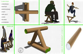 cardboard tube furniture. 5 Tubes Stool Cardboard Tube Furniture O