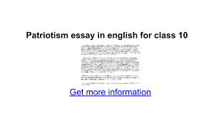 patriotism essay in english for class google docs