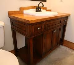 Bathroom: Double Bathroom Sink Vanity With Drop In Sink Made Of ...
