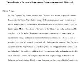 annotated bibliography for the odyssey essay nature or nurture
