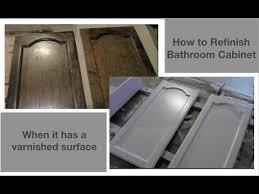 refinishing bathroom vanity you