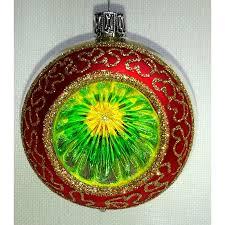 Weihnachtsbaumkugel Reflex Rot Silber Grün 6 Cm