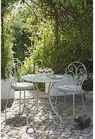 2 seater metal bistro set with cushions