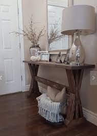 entryway console table decor