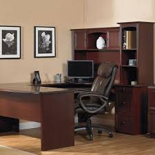 new u shaped office executive desk with hutch cherry l shape