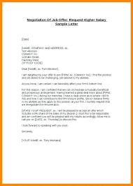 Job Offer Negotiation Letter Sample New Counter Fer Salary Proposal