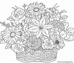Small Picture Printable Coloring Pages For Adults Flowers AZ Coloring Pages