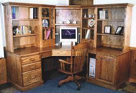 image of corner computer desks wood