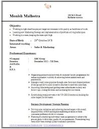 sample template example of awesome resume format with work experience job profile and career objective career profile resume examples