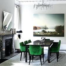 green velvet dining chairs dining room