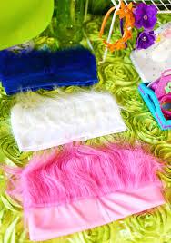dreamworks trolls party hair headbands flower headbands diy