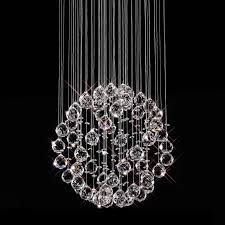 floating crystal ball pendant chandelier 3 sizes pertaining to popular property crystal pendant chandelier plan