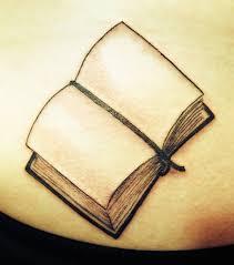3d open book tattoo design