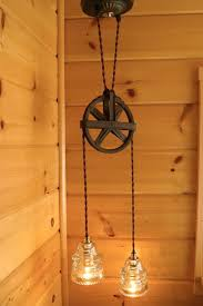 chic hanging lighting ideas lamp. I Have To Figure Out A Way Do This! Industrial Chic Vintage Pulley \u0026 Insulator Hanging Light AGREE! Lighting Ideas Lamp