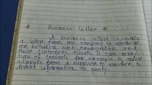 How To Write Business Letter Letter Type Letter Format