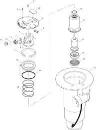 Flx54 series golf sprinkler w dual trajectory