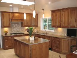 Kitchen:Classy Kitchen Design With L Shape Wooden Kitchen Cabinet And Cream  Tile Flooring Ideas