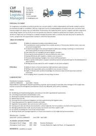 Logistics manager CV template, example, job description, supply chain  manager, delivery of