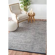 nuloom handmade flatweave contemporary solid cotton grey solid gray area rug 8x10