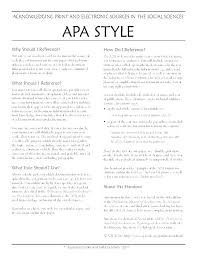 Apa Format Style Template Reference Page Style Template List Working Paper Apa Format